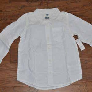 Old Navy Boys 100% Cotton White Button Down Shirt